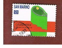 SAN MARINO - UNIF. 1260  - 1989 AVVENIMENTI SPORIVI: GRAND PRIX DI TENNIS   -  USATI (USED°) - Saint-Marin