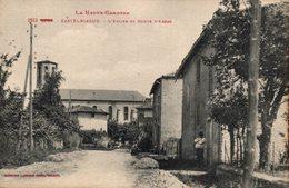 16447      CASTELBIAGUE   L EGLISE ET ROUTE D ARRAS - Autres Communes