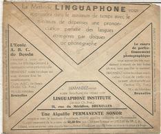 BELGICA SOBRE CHEQUES POSTALES 1932 LINGUAPHONE IDIOMAS LANGUAGE FOTOGRAFIA PHOTOGRAPH - Idioma