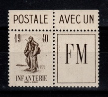 Franchise - YV 10A N** Avec Vignette Et BdF Cote 16 Euros - Franchise Stamps