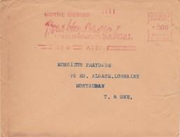EMA C 2120 Lettre Entête Notre Devise Vous Bien Servir Etablissements BANCAL ALBI Tarn 13/10/1948 - Marcophilie (Lettres)