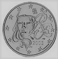 MONNAIE 1 Cent 2003  FRANCE Euro Fautée Non Cuivrée Etat Superbe - Abarten Und Kuriositäten