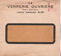 EMA B 0468 Lettre Entête La VErrerie Ouvrière  ALBI Tarn - Marcophilie (Lettres)