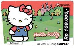 INDONESIA A-585 Prepaid Telkomsel - Comics, Hello Kitty - Used - Indonesië