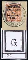 "Ireland Guinness Dublin 1922 Thom Wide Setting Rialtas 2d Orange Perfin ""G."" Of Guinness & Co Used On Piece - 1922 Governo Provvisorio"