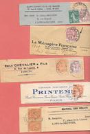 5 BANDES JOURNAUX & PERIODIQUES 1911 à 21 -PRINTEMPS, MENAGERE Fse, ST HUBERT CLUB DE FR, E.CHEVALIER,  DEBATS,  (F30 - Journaux