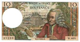 10-FRANCS-VOLTAIRE-2.7.70-(1 Epinglage- Craquant)-SUP++-F.62 - 1962-1997 ''Francs''