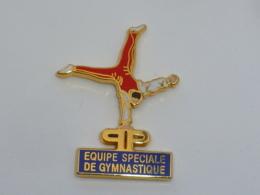 Pin's POLICE DE PARIS, EQUIPE SPECIALE DE GYMNASTIQUE, Signe ARTHUS BERTRAND - Arthus Bertrand