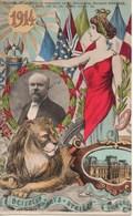 CPA JEAN ROBERT : Souvenir De La Visite Du Présidanet De La République Raymond Poincarré Lyon 22 23 24 Mai 1914 - Robert
