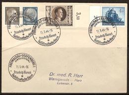 WW II - Briefumschlag Mit Sondermarke + Sonderstempel - Freiwaldau. Gräfenberg 1 -  Prieβnitz - Kurort.  11/05/1944 - Briefe U. Dokumente