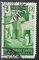 Sello 4 Pts 1933. MARRUECOS Español  Defecto Dentado,  Edifil Num 145 º - Marocco Spagnolo