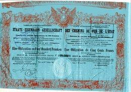 K.K. Priv. STAATS-EISENBAHN-GESELLSCHAFT (1867) - Chemin De Fer & Tramway
