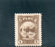PEROU 1931-2 SANS GOMME - Perù