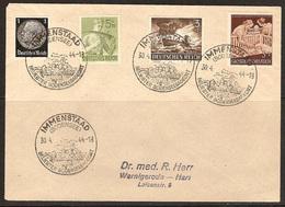 WW II - Briefumschlag Mit Sondermarke + Sonderstempel - Immenstaad (Bodensee) Beliebter Bodenseebadeort. 30/04/1944 - Cartas