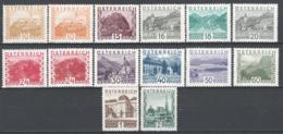 Austria 1929 Unif.378/89 */MH VF/F - Ungebraucht