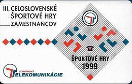 Slovakia - T-com - Slovak Sports Eemployees, Complimentary, 10Units, 09.1999, 1.000ex, Used - Slowakei