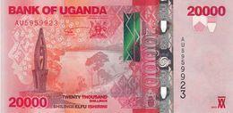 Uganda (BOU) 20000 Shillings 2013 UNC Cat No. P-53b / UG158b - Uganda
