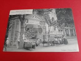 72 /LE MANS / EXPOSITION DU MANS 1911 / KIOSQUE DE VENTE DE L' IMPRIMERIE J . BOUVERET / MAROQUINERIE - PAPETERIE - Le Mans