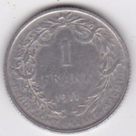 Belgique. 1 Franc 1911. ALBERT I. Légende Flamande, En Argent - 1909-1934: Albert I