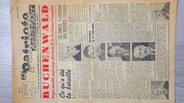 GUERRE 1939-1945- RARE JOURNAL LE PATRIOTE RESISTANT-MAI 1944-RESISTANCE-BUCHENWALD-MARCEL PAUL FTPF-COMBAT-HITLER- - Journaux - Quotidiens