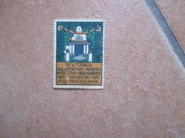 Label Cinderella Chiudilettera Wistawa KRAKOW Pazdziernik Architettura - ....-1919 Gouvernement Provisoire