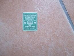 Label Cinderella Chiudilettera 1925 BRATISLAVA Tschecoslovaische Donaumesse International Piccolo Formato - Sin Clasificación