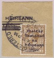 Ireland 1922 Dollard Rialtas 5d Single Use On Piece (part Overprinted OHMS Cover) REGISTERED DUBLIN - 1922 Governo Provvisorio
