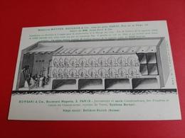 75 / CARTE PUBLICITAIRE / BORSARI & Cie , BOULEVARD MAGENTA, 3, PARIS / VIN / SENECLAUZE / ORAN / ALGERIE / DOS SCANNE - Arrondissement: 10