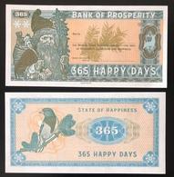 2017 Matej Gabris Santa Claus Noël Christmas Weihnachten 365 Happy Days Bank Prosperity UNC SPECIMEN ESSAY Tirage Limité - Specimen