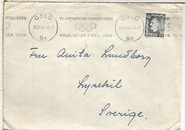 NORUEGA 1951 OSLO CC CON MAT JUEGOS OLIMPICOS DE INVIERNO 1952 WINTER GAMES - Winter 1952: Oslo