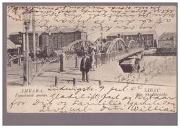 Libau,Liepaja,Die Stadtbrücke,old PC - Lettonie