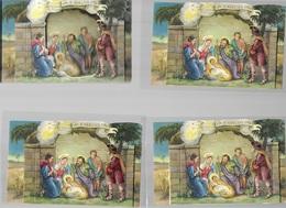 SI/71/    KERSTSTAL     / CRECHES  DE NOEL      4 X - Images Religieuses