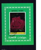 1972 Ajman, Imperial Roses, Ungezähnt, Gestempelt - Ajman