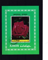 1972 Ajman, Imperial Roses, Gezähnt, Gestempelt - Ajman