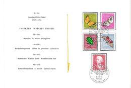 SCHWEIZ SUISSE 1957: Offizielles PTT-Faltblatt Nr.11 Pro Juventute Zu 168-172 Mi 648-52 O BERN 30.XI.57 (SBK CHF 40.00) - Pro Juventute