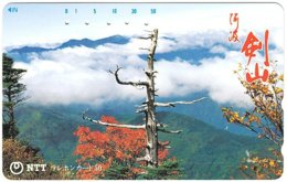 JAPAN N-176 Magnetic NTT [371-030] - Landscape, Mountain - Used - Japan