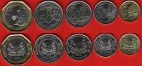 Singapore Set Of 5 Coins: 5 Cents - 1 Dollar 2013 UNC - Singapur