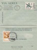 FINALIZA EN BASE AEREA MATIENZO. AEGENTINE AEROGRAMA CON BANDELETA PARLANTE, AÑO 1972. ARGENTINE AEROGRAMME  -LILHU - Poste Aérienne