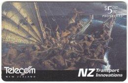 NEW ZEALAND A-990 Chip Telecom - Traffic, Historic Boat - Used - Nuova Zelanda