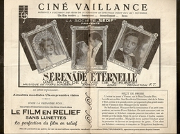 Anderlecht - Cinéma Vaillance - Ciné Kursaal - Programme Novembre 1940 - Programmes