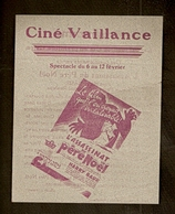 Anderlecht - Cinéma Vaillance - L'Assasinat Du Père Noël - Programmes