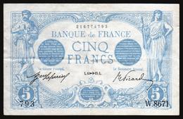 5F Bleu 06.11.1915 - TTB+ - Fay : 2.33 - 1871-1952 Circulated During XXth