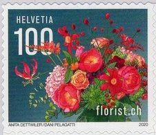 Switzerland - 2020 - Centenary Of Florist.ch Flower Company - Mint Self-adhesive Stamp - Svizzera