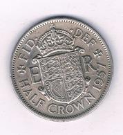 HALF  CROWN  1957 GROOT-BRITANNIE /3708/ - 1902-1971: Postviktorianische Münzen