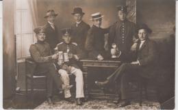 Real Photo Postcard - Germany Deutschland Prussia - Militaria - Army Military Officer Beer Drinkers WW1 WK1 - Krieg, Militär