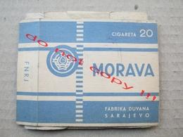 Morava; FNRJ; Fabrika Duvana Sarajevo Yougoslavie Yugoslavia Empty Cigarette Box - Empty Cigarettes Boxes