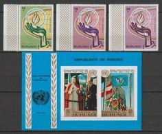 BURUNDI  Année 1969/1970  Droit De L'Homme ; 25e Anniversaire De L'ONU ; Timbres Neufs** - 1962-69: Neufs
