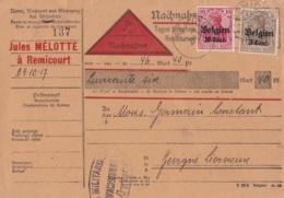 Document Militaire Circulé En 1917 Vers Remicourt - Guerre 1939-45