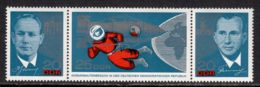 East Germany / DDR 1965 Mi# 1138-1140 ** MNH - Strip Of 3 - Visit Of The Russian Cosmonauts / Space - Europe