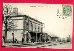 CPA (Ref : AA 336) GISORS (27 EURE) Gare De Gisors Ville (animée Train Et Wagons) - Gisors